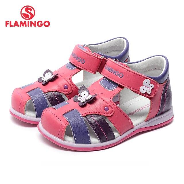 Flamingo известный бренд 2017 новых прибытия весенние и летние дети мода высокого качества сандалии для девочек 71s-hl-0250