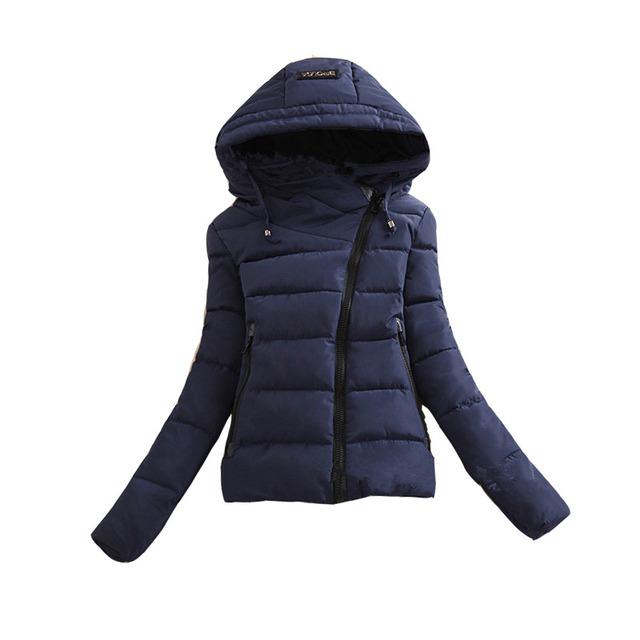 2016 Novas Mulheres Jaqueta de Inverno Para Baixo Parkas Algodão Costura Com Capuz Acolchoado Casaco Quente Curto Feminino Casaco Fino Outerwear Senhora Causal