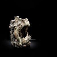 Светодио дный ствол дерева водопад, фонтан для Gecko Ящерица Для черепах, змей Хамелеон рептилий Tree Frog Виварий декорация для террариума