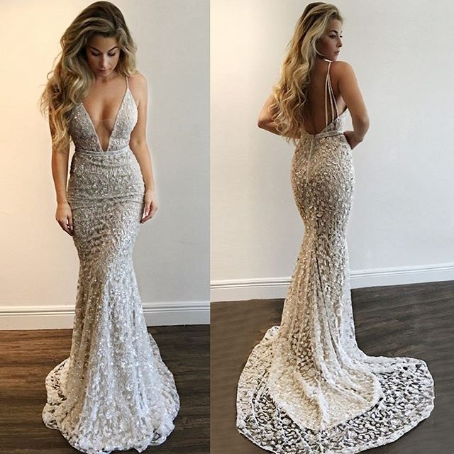 32899a5692e Новые пикантные Русалка Вечерние платья 2018 Спагетти ремень длиной в Пол   с вышивкой бисером кристалл