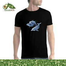Three Dolphins Sea Men T-shirt S-3XL NewNew T Shirts Funny Tops Tee New Unisex High Quality Casual Printing 100% Cotton