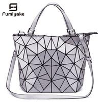 New Design Bag Women Geometric Diamond Tote Quilted Shoulder Bags Laser Plain Folding Handbags Free Shipping hologram bag