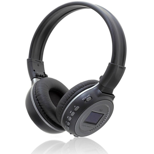 Auriculares inalámbricos mp3 reproductor de música tarjeta sd micro ranura con el mic para sony xiaomi pantalla lcd zealot n65