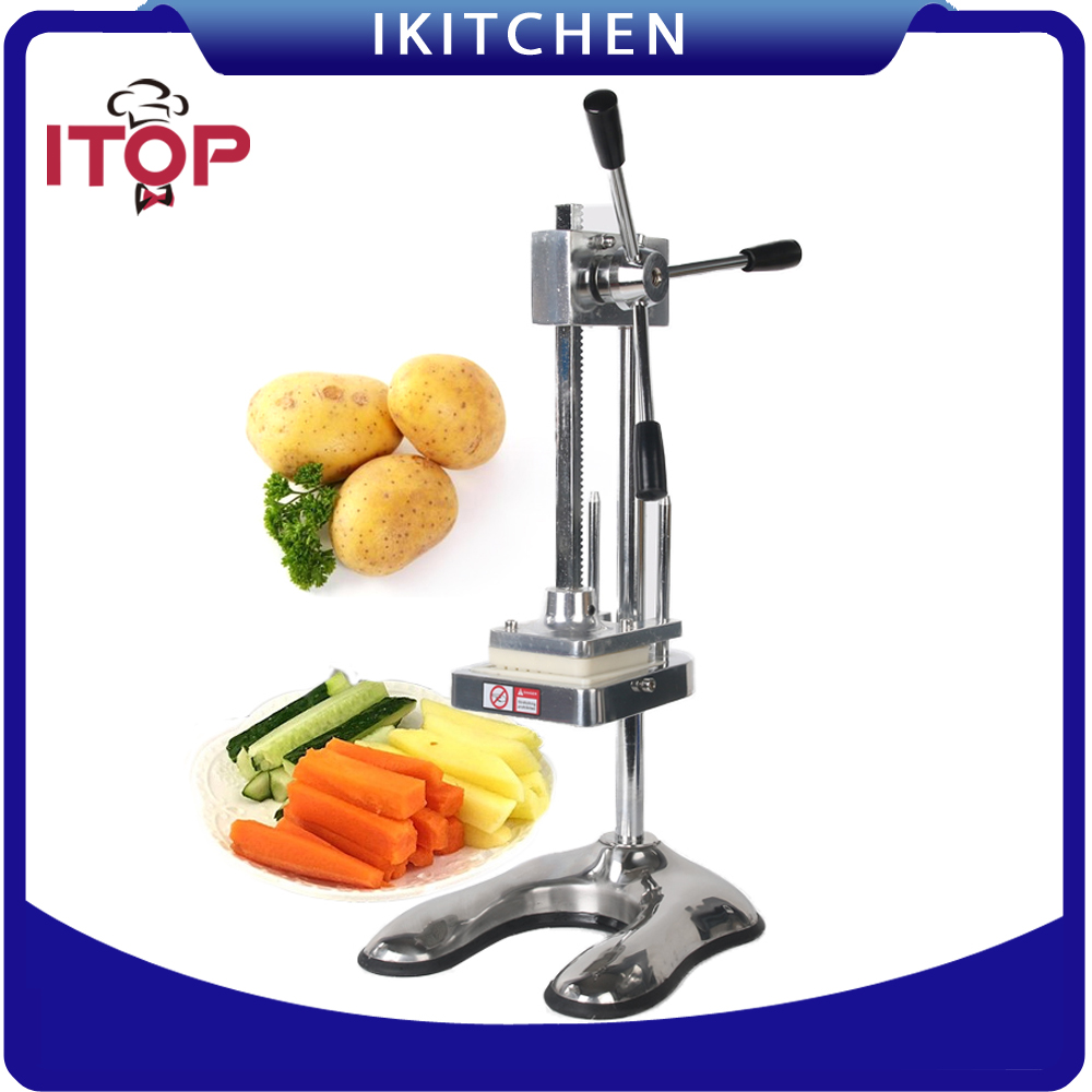 ITOP Manual French Fries  Cutter Potato Slicer Carrot Vegetable Cutting Machine картофелерезка stainless potato chipper french fries slicer chip zesters slicer fg08082 ja