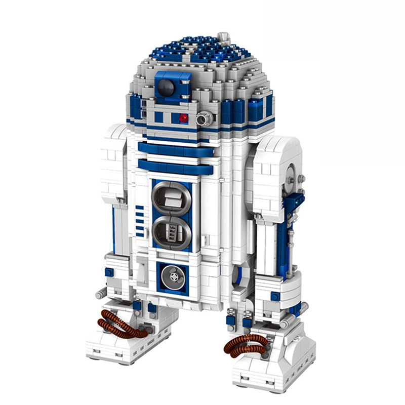 Lepin 05043 2127Pcs Genuine Blocks Wars Series The R2 Robot Set Out of print D2 Building Blocks Bricks Children Toys 10225 robot building blocks lepin 05043 2127pcs star series wars r2 d2 bricks model educational toys 10225 children boys toys gifts