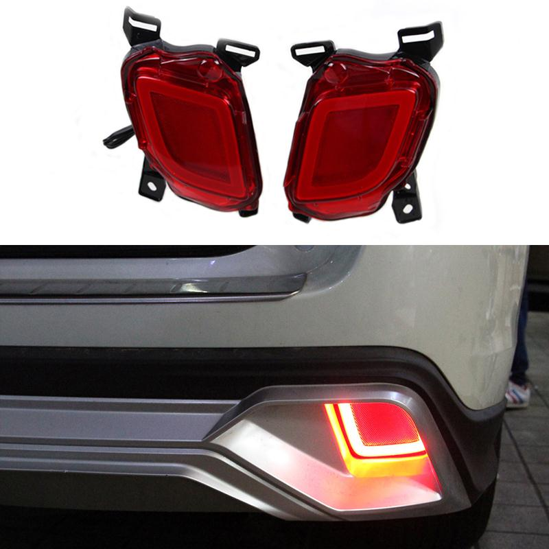For Toyota Highlander 2014 2015 2016 Car 12V LED Rear Bumper Brake Lights Turn Signal Lamps DRL Taillights Auto Tail Fog Lights
