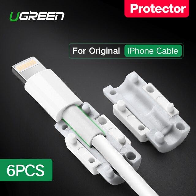 Ugreen кабель протектор для iPhone зарядное устройство защитный кабель USB шнур Saver укус USB кабель Chompers для iPhone кабель протектор