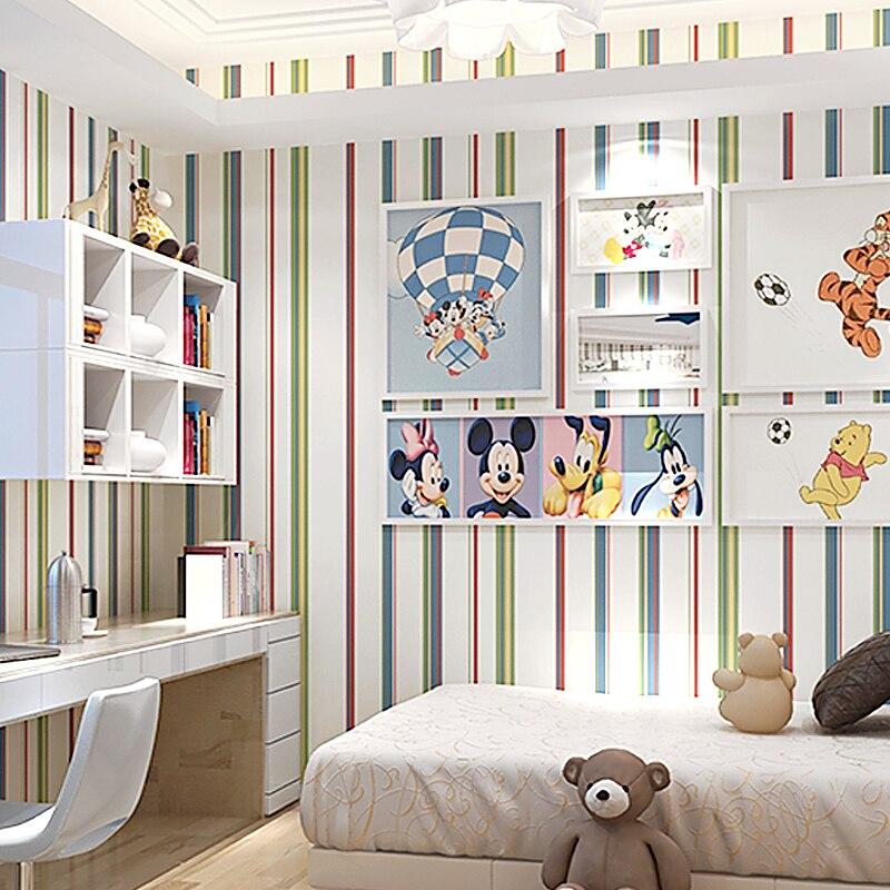 0.53x10 m méditerranée bleu couleur verticale rayé motif papier peint salon chambre fond enfants chambre papier peint