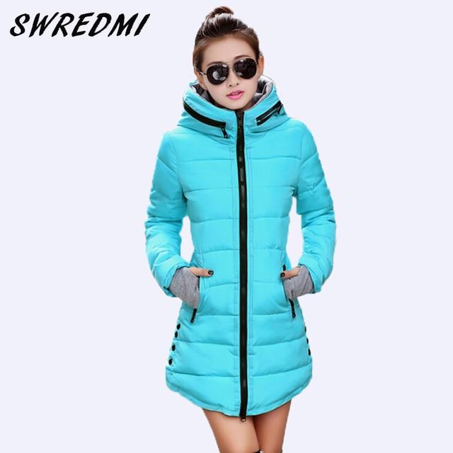 46848313702d0 SWREDMI Women s Jacket Winter 2018 New Medium-Long Cotton Parka Plus Size  Coat Slim Ladies Casual Clothing Hot Sale