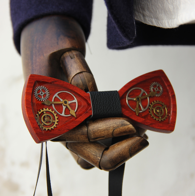 Original Design Handmade Steam Punk Bow Tie For Men Personality Bow Tie  Fashion Accessory