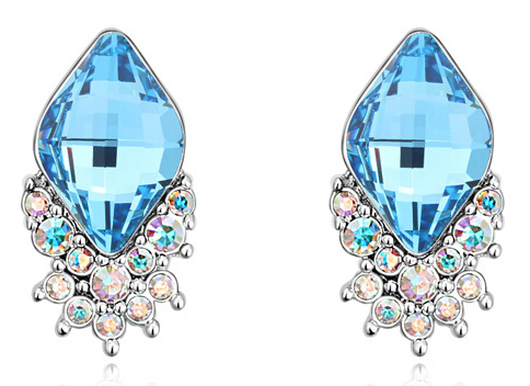 tiger totem Free Shipping Promotion brand quality popular Austrian Crystal mousse icecream Stud Earrings jewelry women wedding