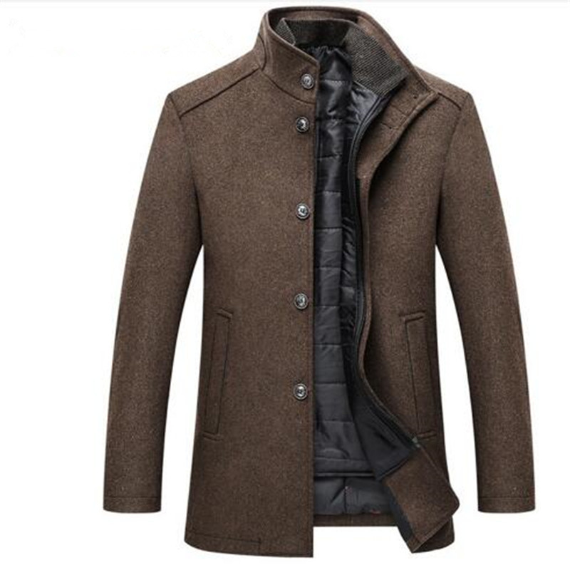 Jackets Coats Single-Breasted Mens Thick And with Adjustable Vest 4-Colours/m-3xl