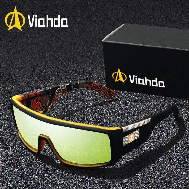 2019 Viahda Mode Marke Designer Herren Spiegel Sonnenbrille Für Frauen Und Männer Sport Driving Coating Uv400 Brillen Sonnenbrille Hoher Standard In QualitäT Und Hygiene