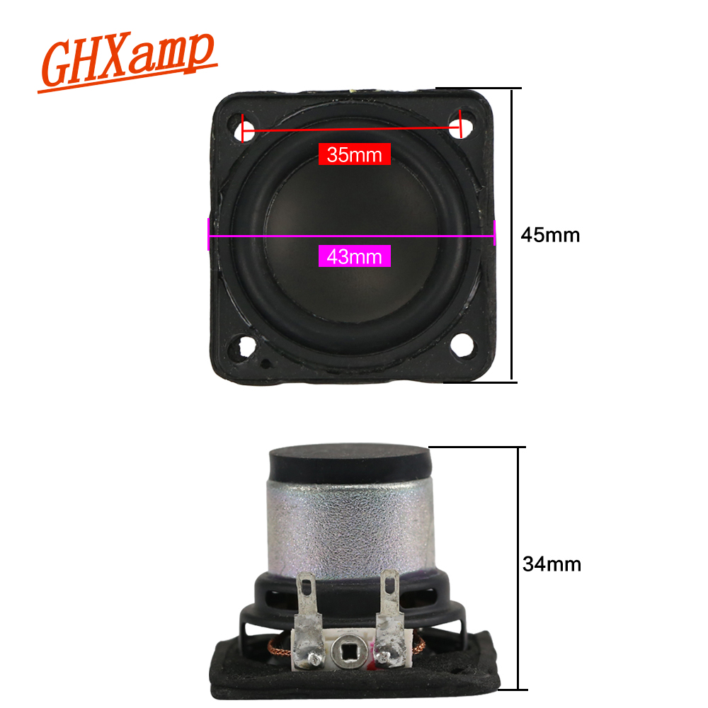 1.75 Inch 4Ohm 10W Portable Bluetooth Speaker Full Range Home Theater Tweeter Bass Desktop For Charge2+ Speakers 2PCS