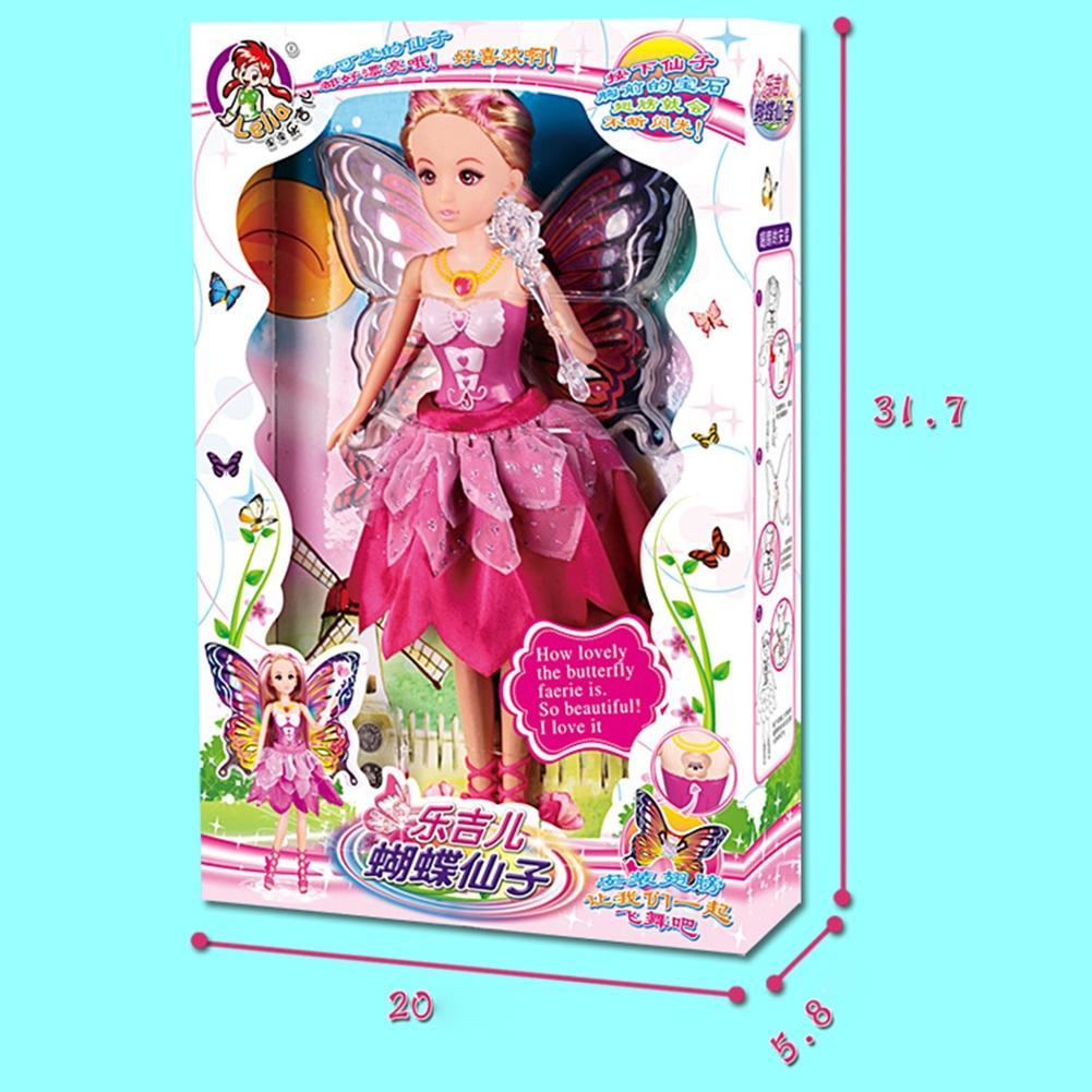 Kids Girls Fairy Butterfly Shape Wing Wand LED Toys Set ILOE