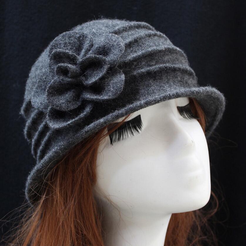 γυναικείο dome fedora 100% μαλλί καπέλο - Αξεσουάρ ένδυσης - Φωτογραφία 3