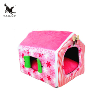 TAILUP 3Colors Cute Princess Style Pink Pet House Soft Dog Bed