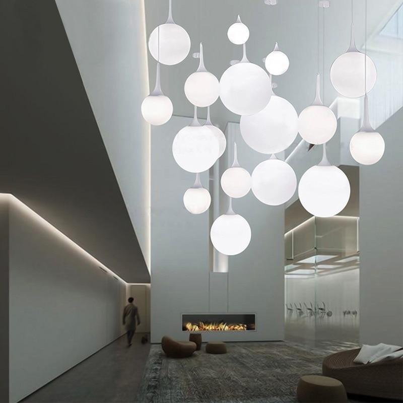 Beaver Pendant Light Dining Room Bedroom Balcony Stairs Creative Design Six Diameter Glass Ball Single Pendant Lamp