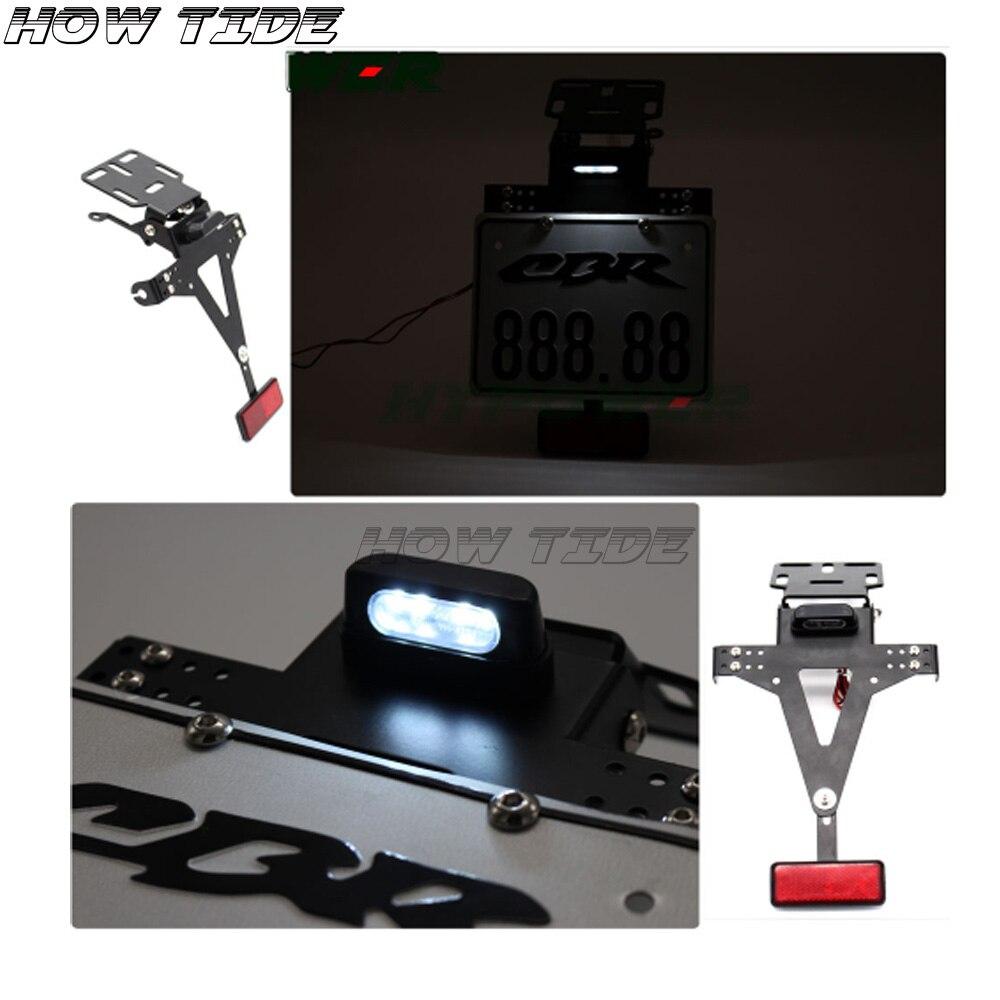 Pour Honda veuve noire NTV offre spéciale queue de moto rangée de haute qualité garde-boue éliminateur plaque d'immatriculation titulaire lumière LED