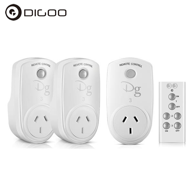 Digoo RC-13 Smart Home RF Wireless Remote Control Socket Power Plug Controller EU US UK AU for Smart Home Electronics eu us uk wireless rf 433mhz plug in lcd remote thermostat for home floor room hearting and cooling temperature controller