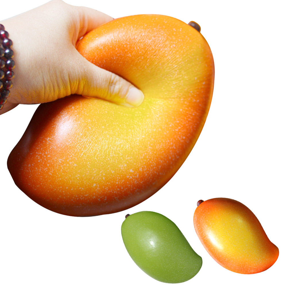 Besegad 18cm Cute Slow Rising <font><b>Squishy</b></font> Mango Squishi <font><b>Fruit</b></font> Food Jumbo Scented Squeeze Stress Relief Ball for Kid Fun Gift Toys image