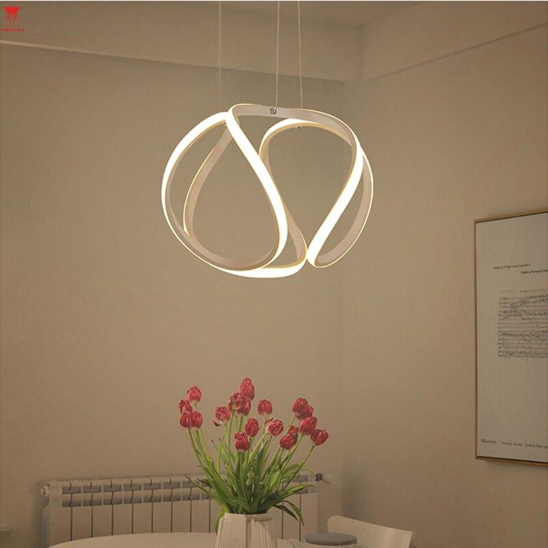 Подвесной светильник светодиодный шар 64 Вт современные акриловые кухня лампа 85 265 В Обеденная висит Освещение Регулируемый Стиль luxture