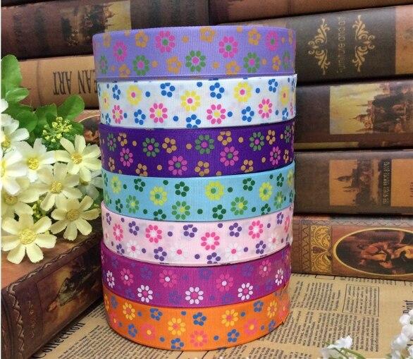 Нить ленты с принтами с tri-цвет солнца цветок Плетеный волосы лук подарочная коробка с привет свадебные принадлежности ...
