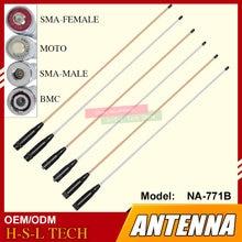 Sma female/sma male/bnc мягкая гибкая рация антенна 144/430