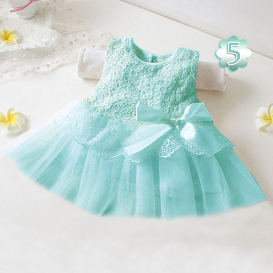 Baby <font><b>Girls</b></font> <font><b>Dress</b></font> 0-2 <font><b>Years</b></font> <font><b>Old</b></font> New <font><b>Summer</b></font> Sleeveless Fashion Style Children Clothes <font><b>12</b></font> Color Cotton Infant <font><b>Girls</b></font> Lace Dresse image
