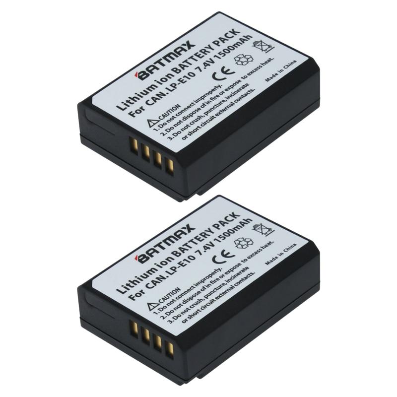 US $13 49 25% OFF 2Pc 1500mAh LP E10 LP E10 Camera Battery for Canon  LPE10,EOS Rebel T3 T5 T6 Kiss X50 Kiss X70 EOS 1100D EOS 1200D EOS 1300D-in