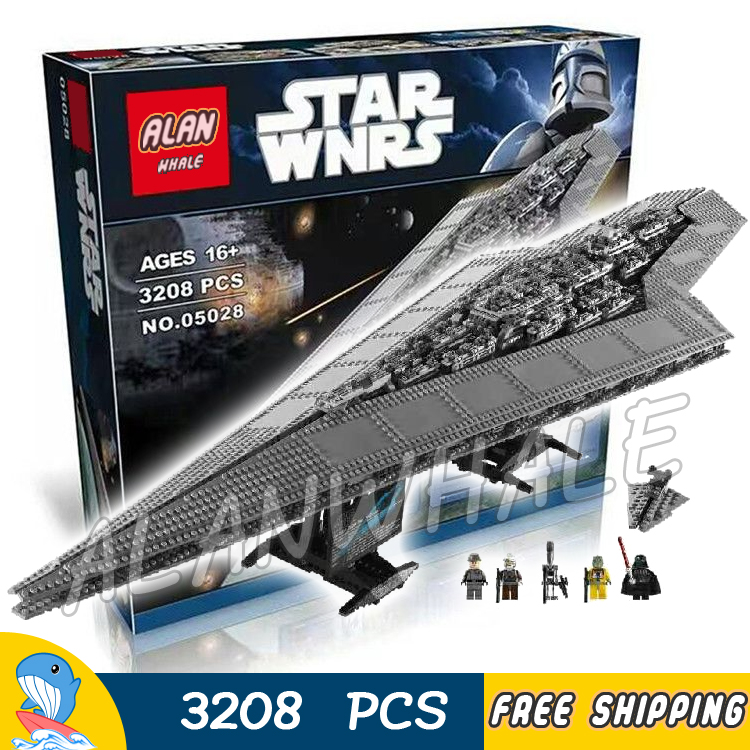 3208pcs New Star Wars 05028 Super Star Destroyer Assemble Model Building Blocks Toys Space Ship Collection Compatible With legoe lepin 05028 3208pcs star wars building blocks imperial star destroyer model action bricks toys compatible legoed 75055