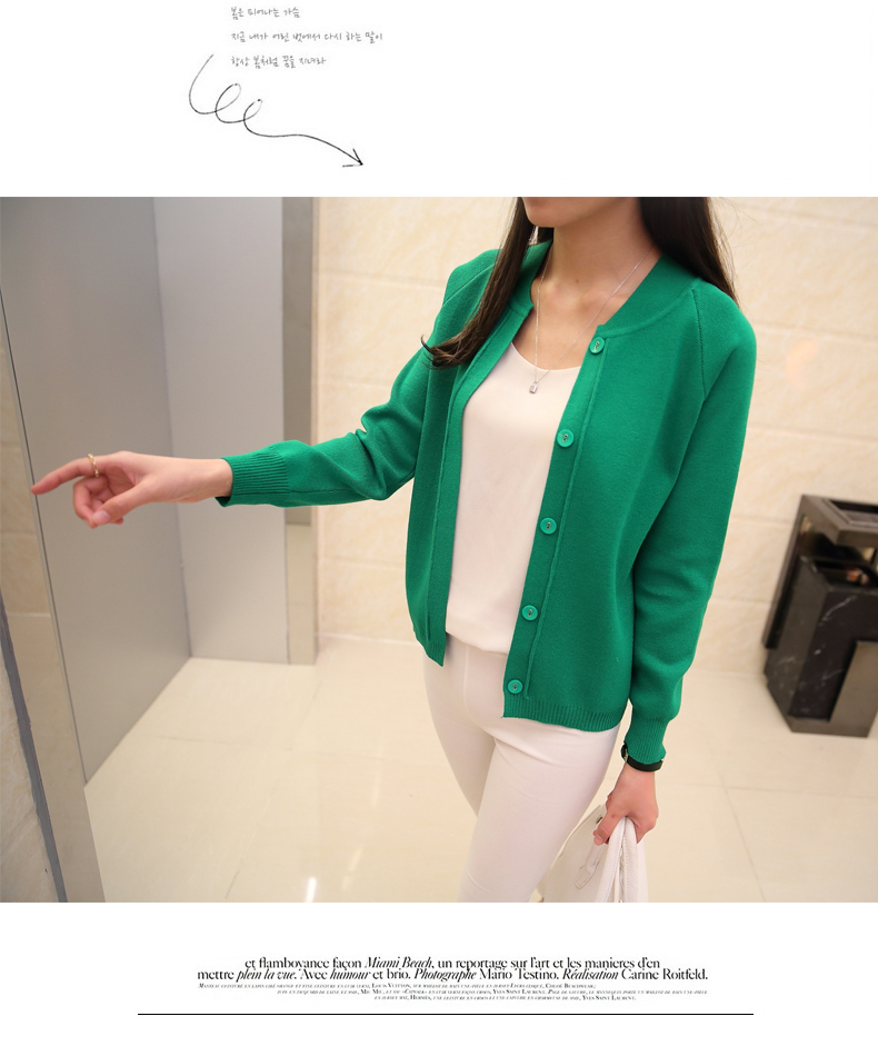 OHCLOTHING New spring summe 19 female knit cardigan sweater coat short female a little shawl knitted jacket female 12 color 21