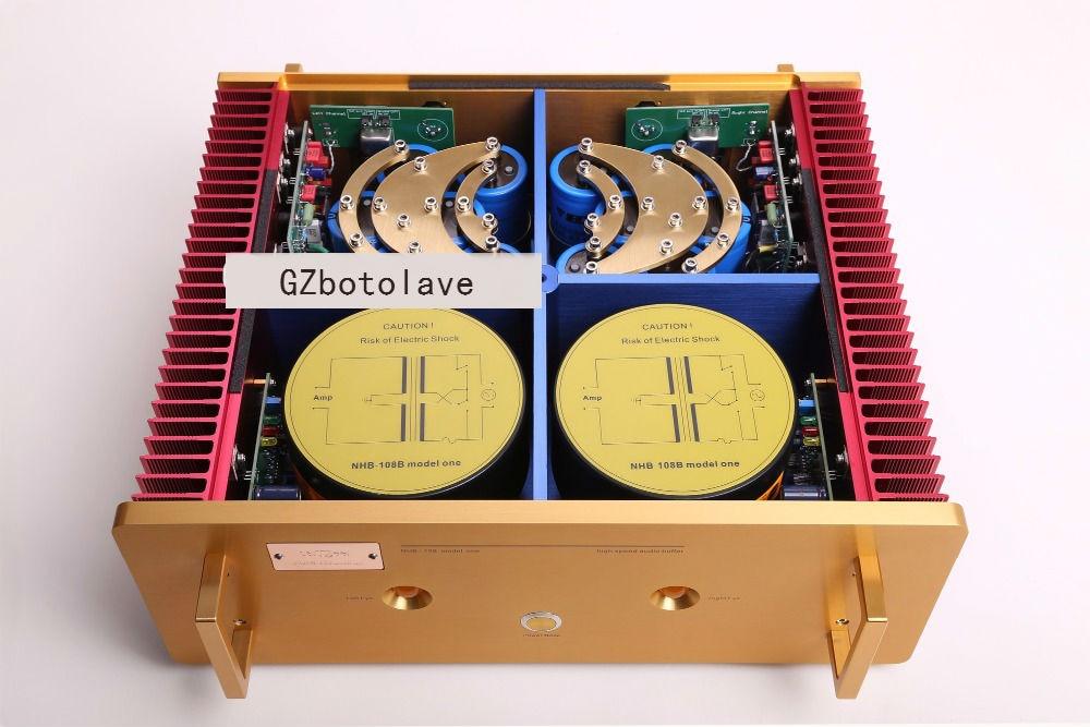 Latest Study/Copy Dartzeel NHB108 power amplifier HIFI AMP NO Negative feedback amplifier circuit power AMP high copy dartzeel nhb108 finished amplifier board amplifier kits of 99 9