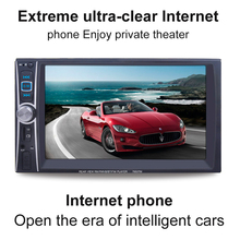 """7"""" HD Car Stereo Audio MP3 MP5 Player FM Radio with Digital Touch Screen Support Phone/ Tablet Connected GPS + Rear View Camera"""