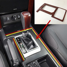 цена на ABS plastic For Toyota Prado 2010 2011 2012 2013 2014 2015 2016 2017 Car gear shift knob frame panel cover trim Car Accessories