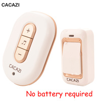 No Need Battery Doorbell 200M Range AC 110 220V Waterproof Electric Door Bell Wireless US EU