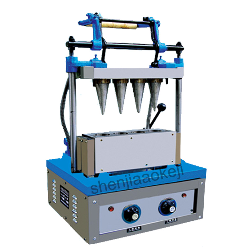 DST-4 Ice cream egg tray machine wafer cup maker ice cream cone making machine 220V (50Hz) 2400W 1pc ice cream making machine commercial machine for making ice cream cone ice cream cone making machine