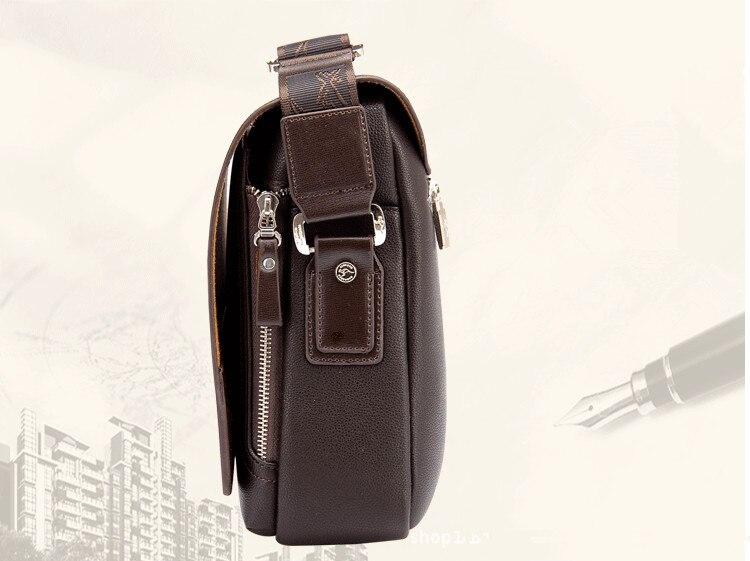 Designer Brand Kangaroo Briefcase Men Soft Leather Shoulder Travel Bag Business office Computer laptop bag Cover Messenger Bags