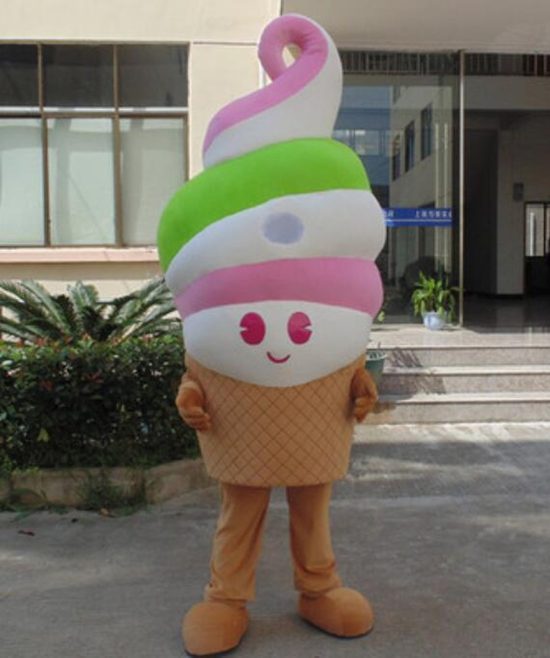 Advertising Ice Cream Shop Cone Mascot Costume Suits Cosplay Party Game Dress Outfits Clothing Advertising Carnival Christmas