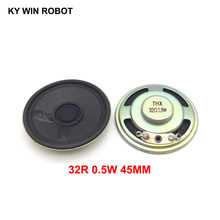 2pcs/lot New Ultra-thin speaker 32 ohms 0.5 watt 0.5W 32R speaker Diameter 45MM 4.5CM thickness 9MM(China)