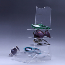 New Transparent 6 Layers Sun Glasses Eyeglasses Modern Acrylic Display Stands Shelf Glasses Display Show Stand Holder Rack