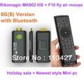 Holiday sale!Rikomagic Bluetooth MK802 IIIS Dual Core Mini Android 4.1 PC RK3066 1.6Ghz Cortex A9 1GB / 8G  + MELE F10 Air Mouse
