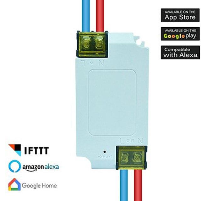 Interruptor WiFi inalámbrico de hogar inteligente para Amazon Alexa Echo Google asistente hogar