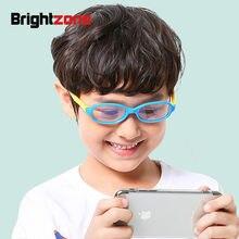 8225f6fda Brightzone 2018 جديد الصبي فتاة مكافحة الأزرق ضوء الكمبيوتر الألعاب نظارات  الأطفال هلام السيليكا الزجاج الأزياء إطار نظارات أفضل.