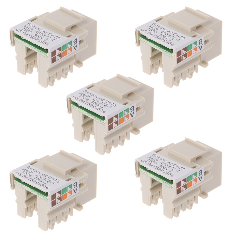 5 Pcs RJ45 Cat5e Unshielded Ethernet Punch Down Inserts Network Connector Module- PC Friend ...