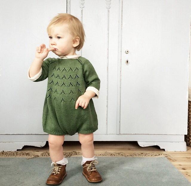 Adorável bonito tricô bebê macacões romper rosa e verde infantil baby clothing