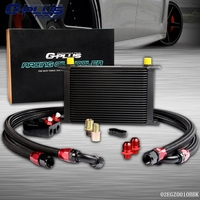 25 Row AN 10AN Universal Engine Transmission Oil Cooler Filter Relocation Kit
