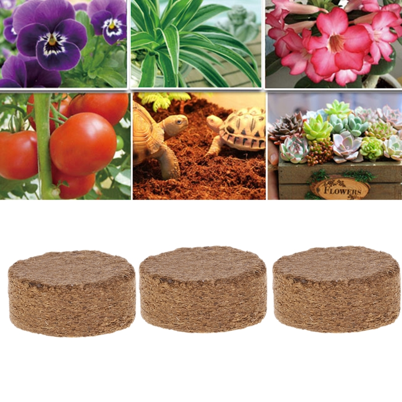 Coconut Fiber Coir Pellet Nutrient Soil Lightweight Plant Compressed Base Garden