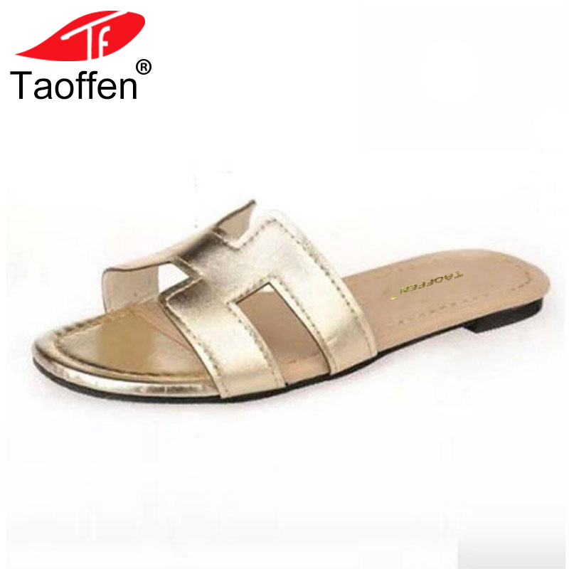 TAOFFEN New Arrival Quality Leisure Women Sandals Slippers Summer Shoes Beach Flip Flops Women Footwear Size 35-40 WA0181 new pattern brand quality leisure women sandals slippers summer fashion shoes beach flip flops women footwear size 36 40 wa0182