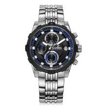 Marque de luxe men'swatchesmulti fonction sport quartz montre-bracelet de mode De Luxe lumineux minuterie horloge étanche 100 m CASIMA #8306